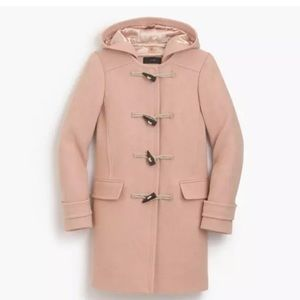 J. CREW Blush Pink Melton Wool Duffle Toggle Coat